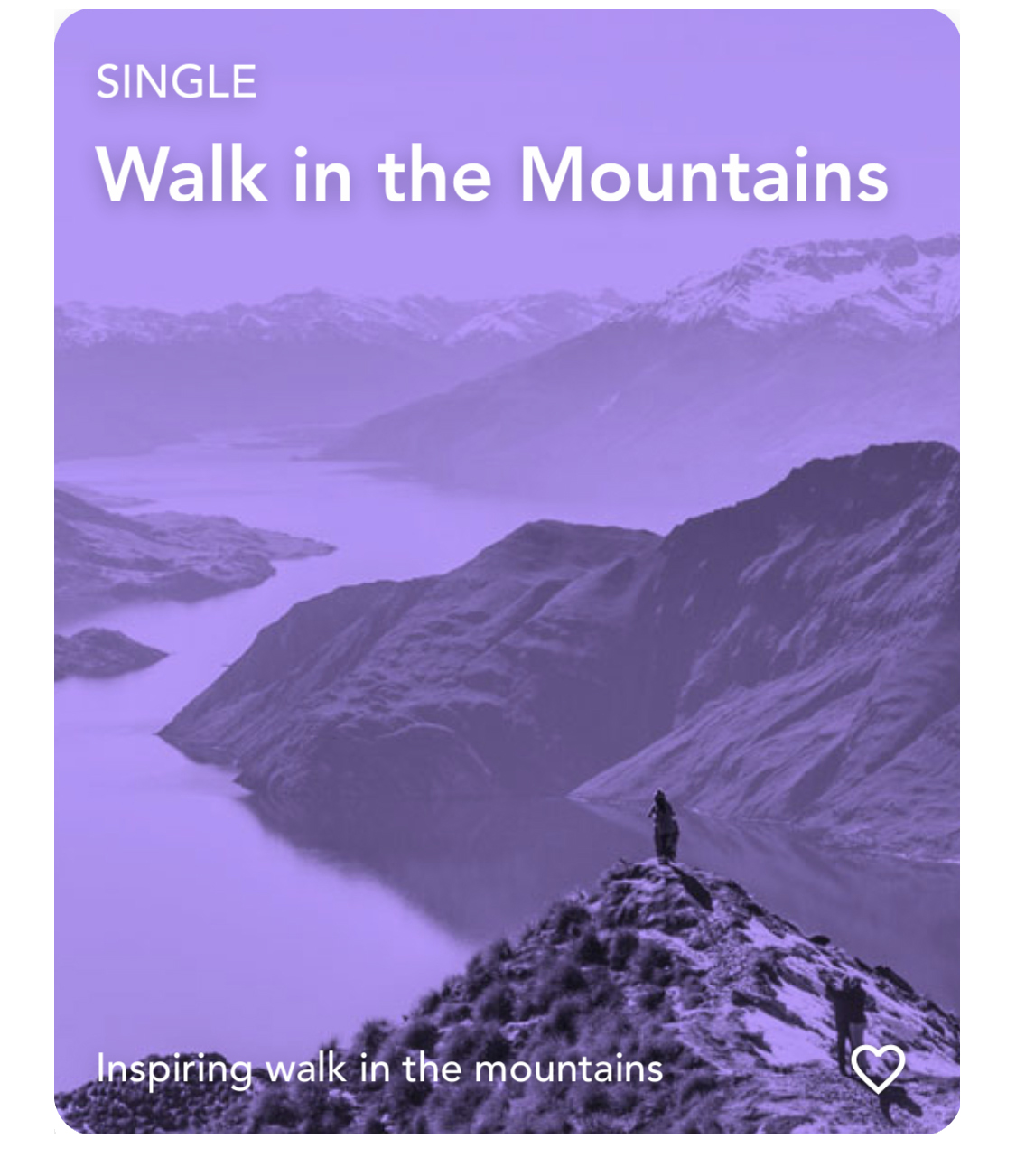 Walk in the Mountains Single Visualization