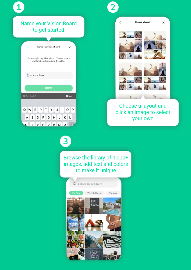 Infographic: Create a digital vision board and connect with it daily