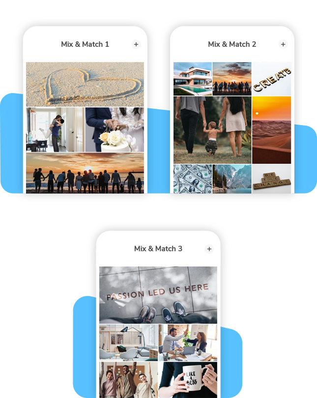 Vision Board Mix and Match Layout