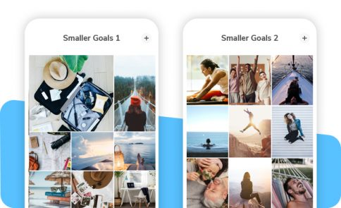 Vision Board Smaller Goals Layout